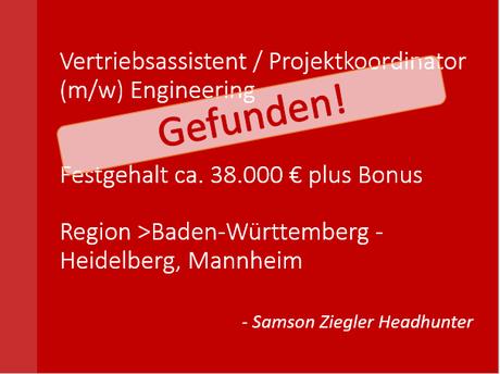 Vertriebsassistent / Projektkoordinator (m/w) Mannheim SZH Jobs, Stellenanzeige, Personalberatung, Personalvermittlung