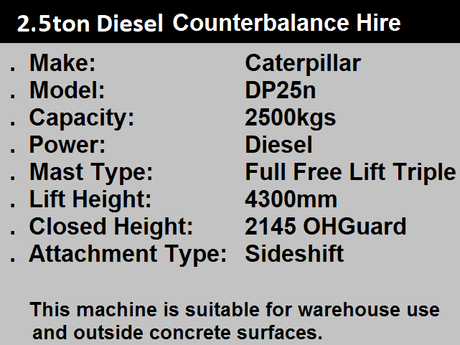 5.0 Ton Diesel Forklift Hire for Kent and Sussex