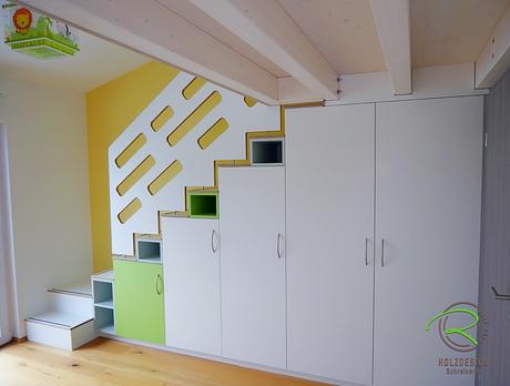 Kinderzimmer Treppenschrank