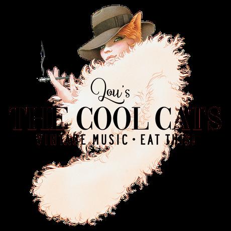 "Das neue Logo der Postmodern Swing Band ""Lou's The Cool Cats aus Berlin"