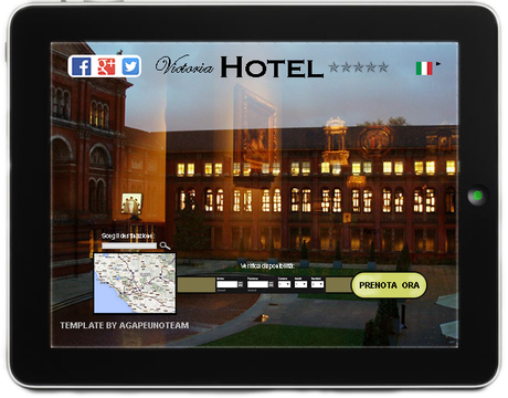 template sito con online booking