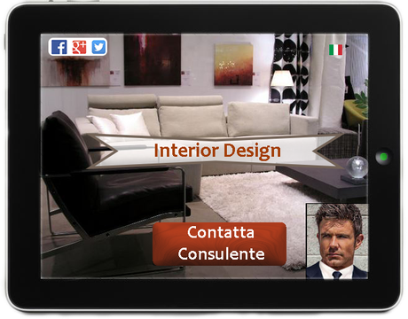 template sito web consulente interior design