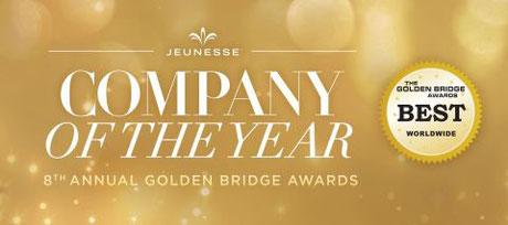 Награды компании Jeunesse Global, Golden Bridge Awards, Успех, Компания Дженесс получает награды, Jeunesse business awards, Business awards, Jeunesse Global,