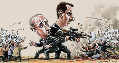 Putin og Assad side om side