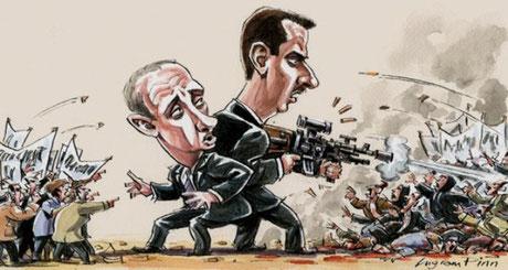 Putin og Assad side om side