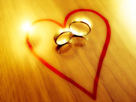 Herz, Ringe, Eheringe, Ehe, Partnerschaft, Liebe