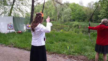 Bogensport vor Ort im Schlosspark Trebsen