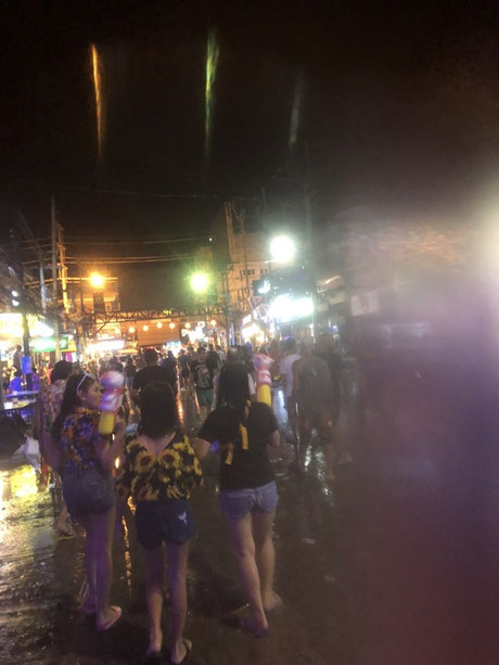 Leaving the scene - Bangla Road in Patong during the Songkran, Phuket (Thailand)