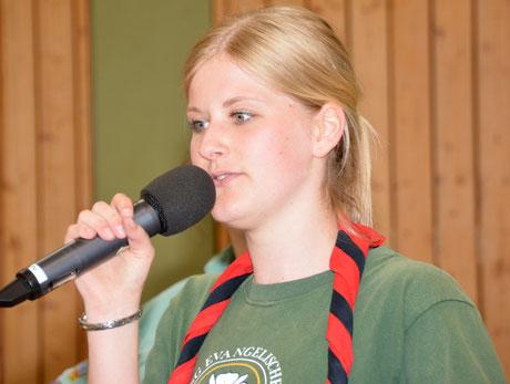 Sina Hansen hieß alle Teilnehmer zum Scout-Turnier willkommen.