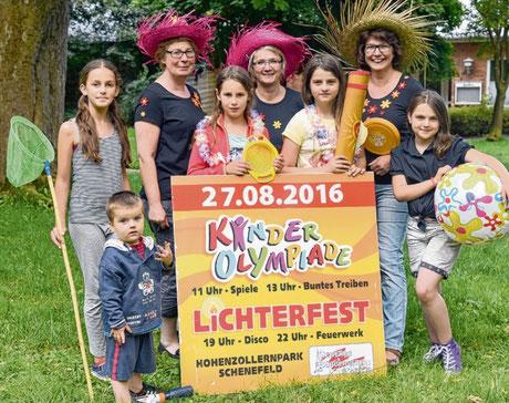 Kinder und Ausrichter freuen sich auf das große Sommerfest mit Kinderolympiade und Lichterfest.