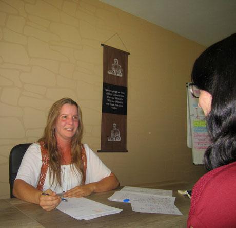 Arbeit mit einer Klienting