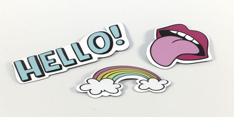 Aufkleber Sticker Plottschrift Atelier Weidens Webseite