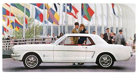 Premiere: Eines der 1. Werbefotos vom Mustang (Bild Ford)