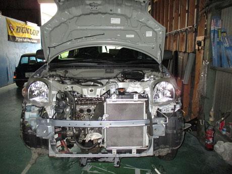 L235S エッセ オーバーヒート修理