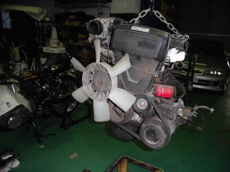 AE85改トレノ リビルトエンジン載せ替え