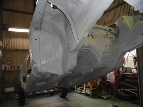 AE86 トレノ ボディ下廻り プラサフ塗装