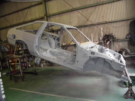AE86 トレノ 下廻り プラサフ塗装