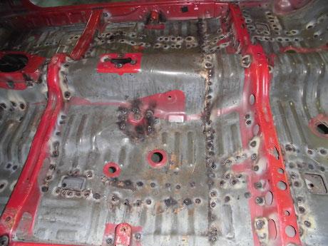 AE86 フルスポット 室内補強