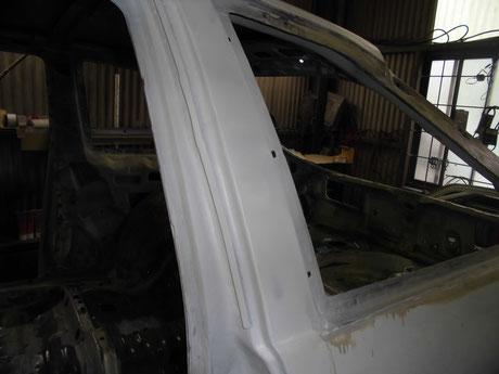 AE86フルレストア Bピラーの錆修理