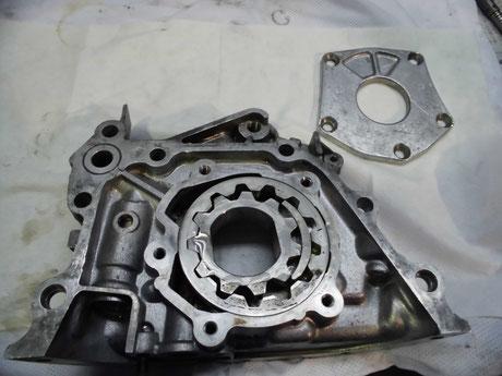 AE86 4AG オイルポンプ分解 洗浄