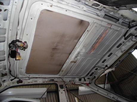 AE86 トレノ サンルーフ雨漏り