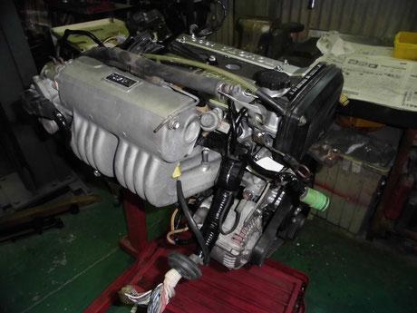 AW11 MR2 エンジンハーネス組付け