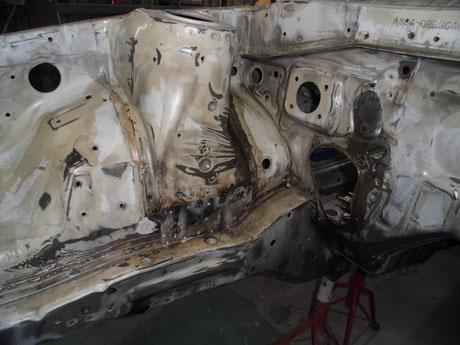 AE86 トレノ フロントフレーム レストア