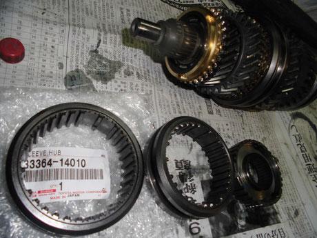 AE86 3-4速ハブスリーブ交換