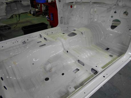 AE86フルレストア 室内 クリヤ塗装