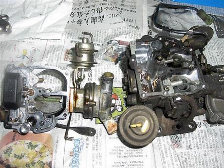 RX40 マークⅡ キャブレター分解