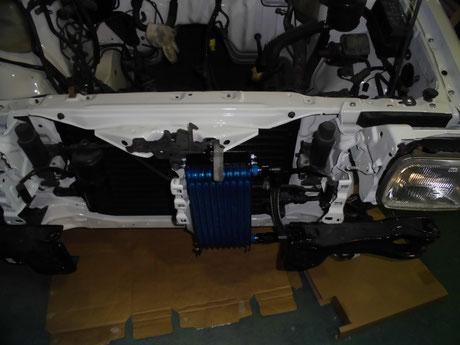 AE86 トレノ オイルクーラー取付け
