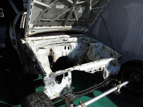 AE86 トレノ エンジンルーム洗浄