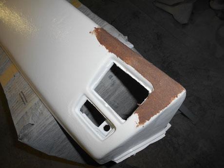 AE86 ダッシュ割れ修理