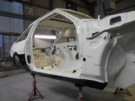 AE86 ボディー 塗装ツートン