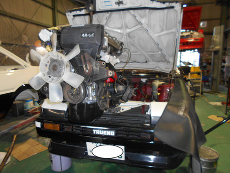 AE86 4AG エンジンオイル漏れ修理