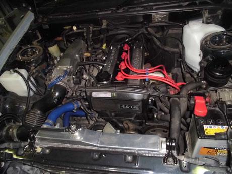 AE86 トレノ エンジンオイル漏れ修理