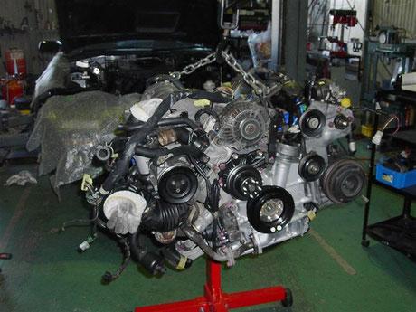 FC3S RX-7 エンジン補機類組み付け