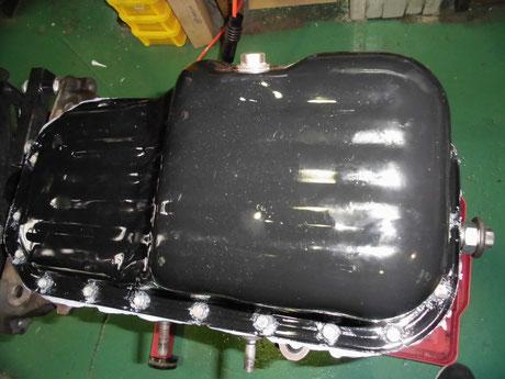AE86 4AG オイルパン洗浄