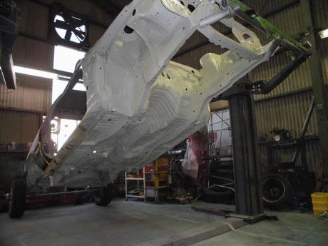 AE86 トレノ 下廻り塗装