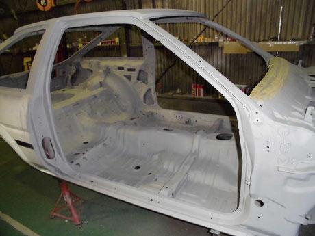 AE86 トレノ 室内プラサフ塗装