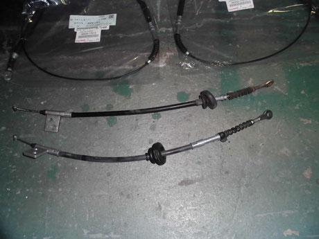 AW11 MR2 サイドブレーキワイヤー交換