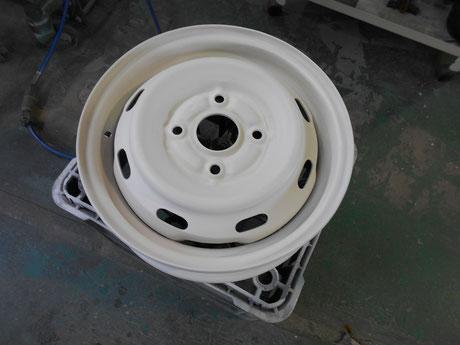 AE86 スペアタイヤ ホイール サフ塗装