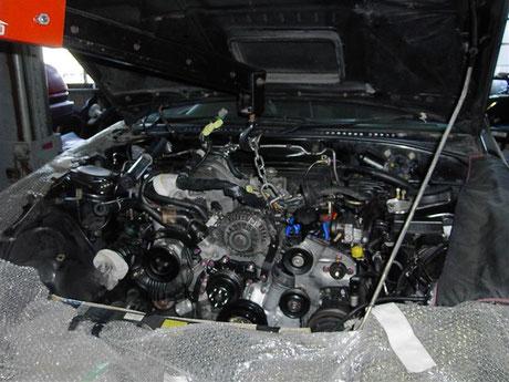 FC3S RX7 リビルトエンジン交換