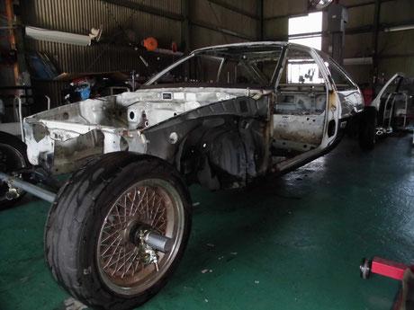 レストア AE86  トレノ ボディ洗浄