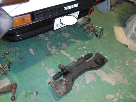 AE86 パワステラック修理
