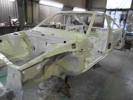 AE86 トレノ レストア クリヤ塗装