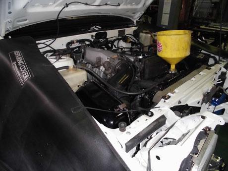 AE86トレノ 冷却水エア抜き