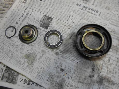 AE86 パワステプーリー修理