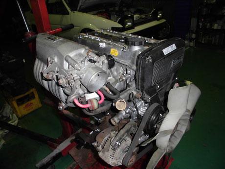 AE85改トレノ エンジン補機類移植