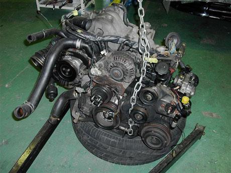 FC3S RX-7 エンジン取外し